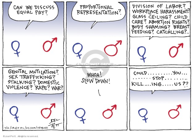 Cartoonist Joel Pett  Joel Pett's Editorial Cartoons 2019-07-11 equality