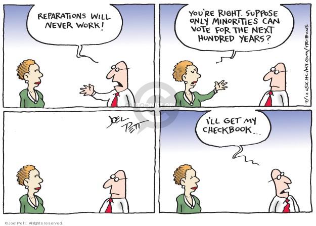 Cartoonist Joel Pett  Joel Pett's Editorial Cartoons 2019-07-12 minority