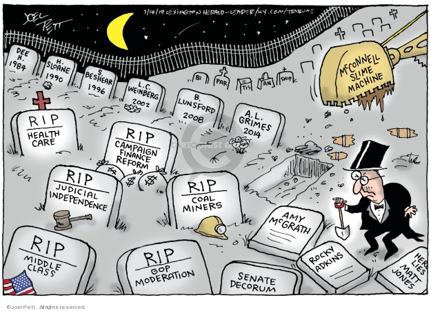 Cartoonist Joel Pett  Joel Pett's Editorial Cartoons 2019-07-14 Congress