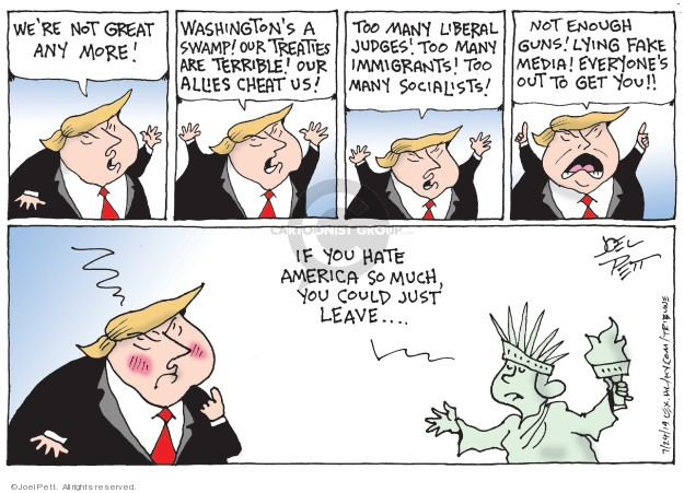 Cartoonist Joel Pett  Joel Pett's Editorial Cartoons 2019-07-24 media