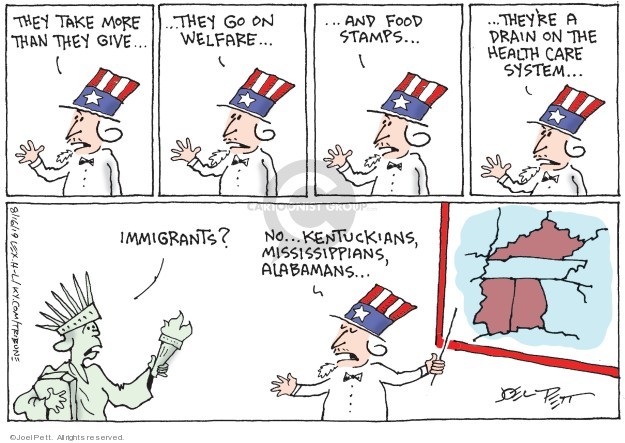 Joel Pett  Joel Pett's Editorial Cartoons 2019-08-16 immigration