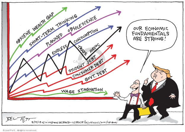 Joel Pett  Joel Pett's Editorial Cartoons 2019-09-05 deficit