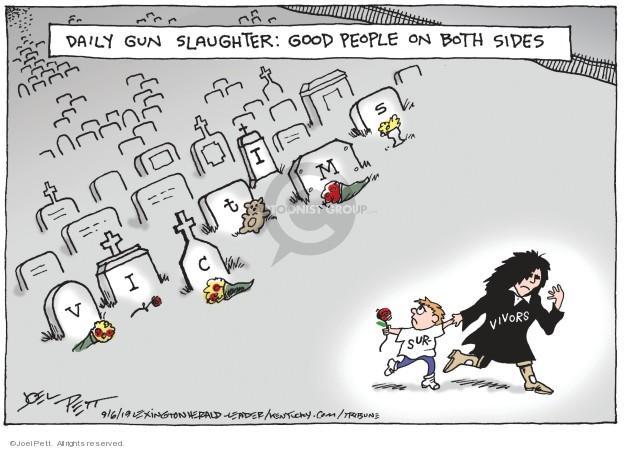 Joel Pett  Joel Pett's Editorial Cartoons 2019-09-06 violence