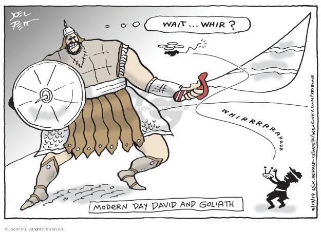 Cartoonist Joel Pett  Joel Pett's Editorial Cartoons 2019-09-19 drone