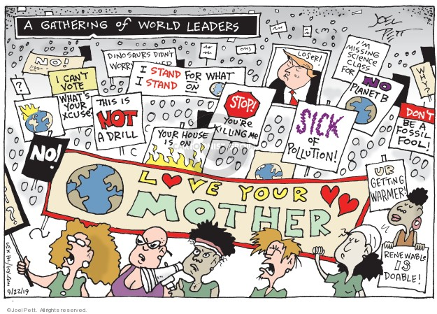 Joel Pett  Joel Pett's Editorial Cartoons 2019-09-22 vote