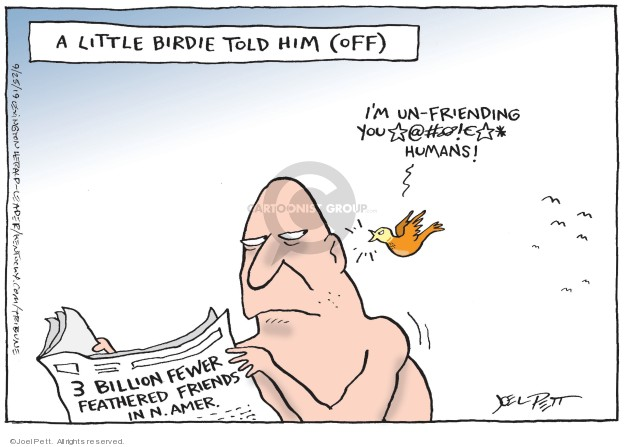Cartoonist Joel Pett  Joel Pett's Editorial Cartoons 2019-09-25 media