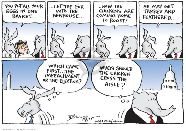 Joel Pett  Joel Pett's Editorial Cartoons 2019-10-11 2020 election Donald Trump