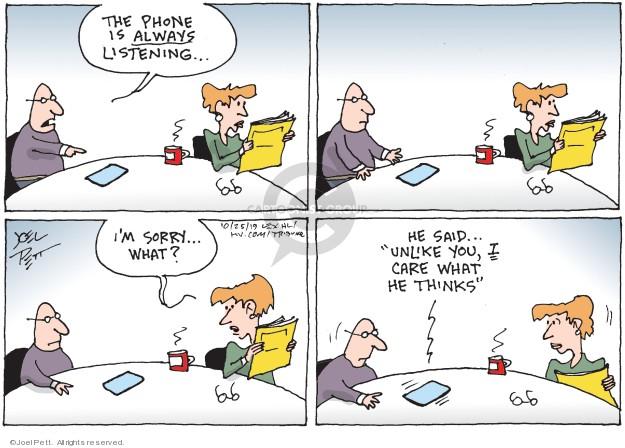Cartoonist Joel Pett  Joel Pett's Editorial Cartoons 2019-10-25 technology