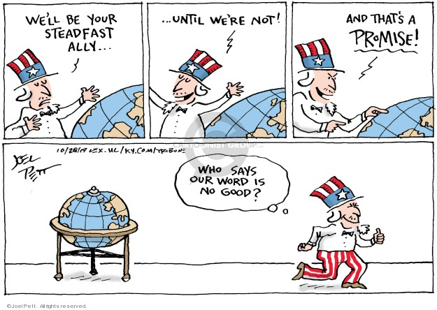 Cartoonist Joel Pett  Joel Pett's Editorial Cartoons 2019-10-29 invasion
