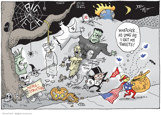 Joel Pett  Joel Pett's Editorial Cartoons 2019-10-30 deficit
