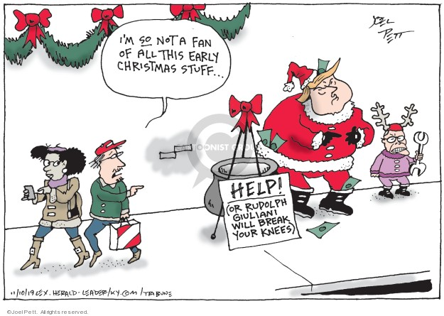 Joel Pett  Joel Pett's Editorial Cartoons 2019-11-10 political scandal