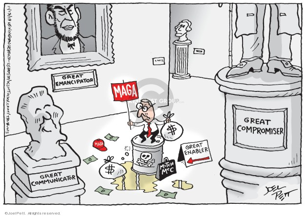 Joel Pett  Joel Pett's Editorial Cartoons 2019-11-13 senate
