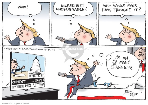 Joel Pett  Joel Pett's Editorial Cartoons 2019-11-14 political scandal