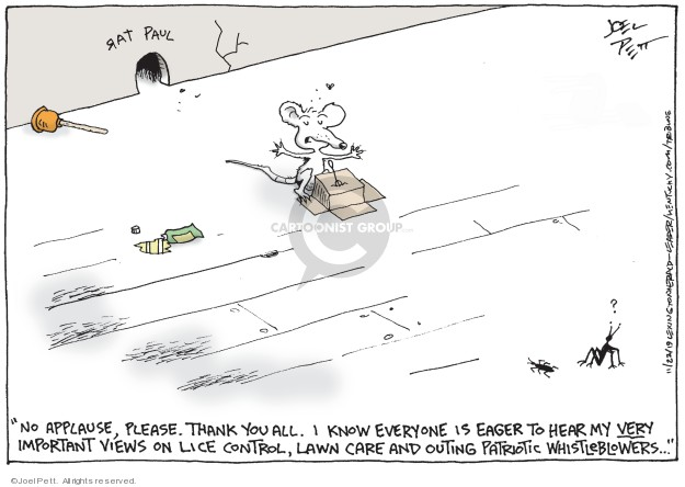 Joel Pett  Joel Pett's Editorial Cartoons 2019-11-21 rat