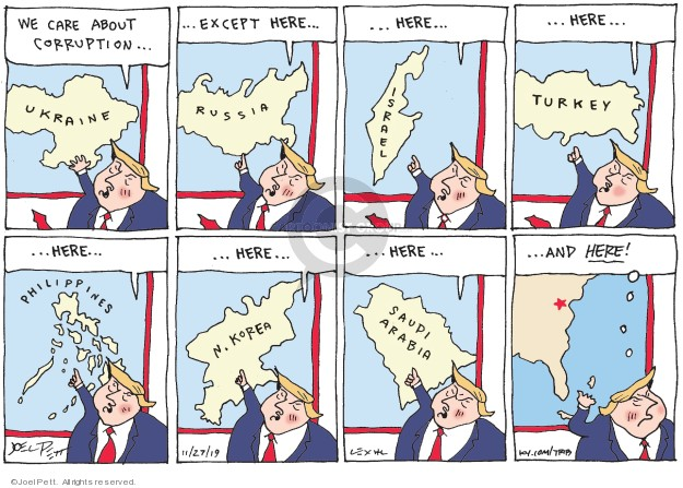 Cartoonist Joel Pett  Joel Pett's Editorial Cartoons 2019-11-27 president