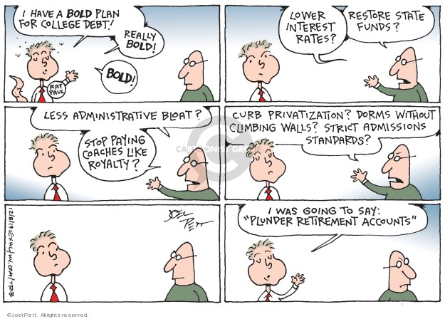 Joel Pett  Joel Pett's Editorial Cartoons 2019-12-08 loan