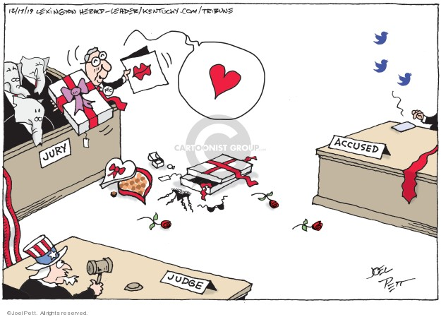 Joel Pett  Joel Pett's Editorial Cartoons 2019-12-17 presidential leadership