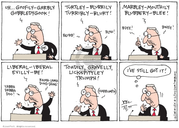 Joel Pett  Joel Pett's Editorial Cartoons 2019-12-19 speech