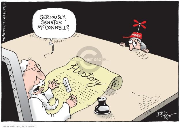 Cartoonist Joel Pett  Joel Pett's Editorial Cartoons 2019-12-22 impeachment