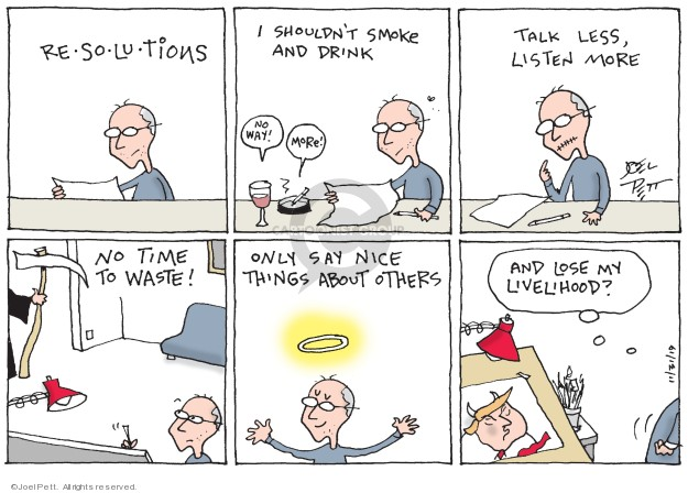 Joel Pett  Joel Pett's Editorial Cartoons 2020-12-31 Donald Trump