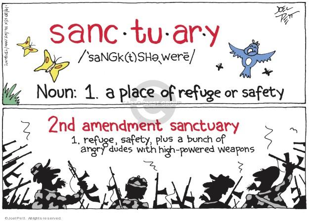 Cartoonist Joel Pett  Joel Pett's Editorial Cartoons 2020-01-08 firearm
