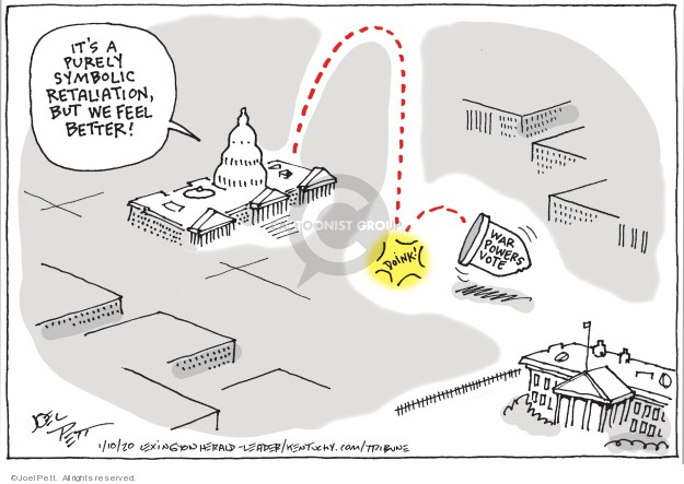 Joel Pett  Joel Pett's Editorial Cartoons 2020-01-10 presidential leadership