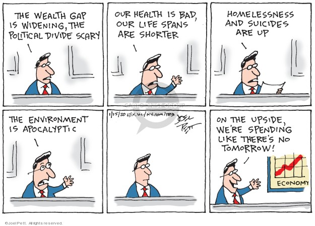 Joel Pett  Joel Pett's Editorial Cartoons 2020-01-15 life change