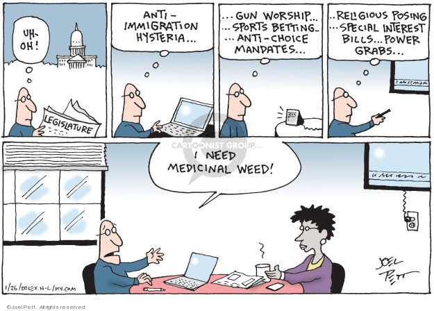 Cartoonist Joel Pett  Joel Pett's Editorial Cartoons 2020-01-26 immigration