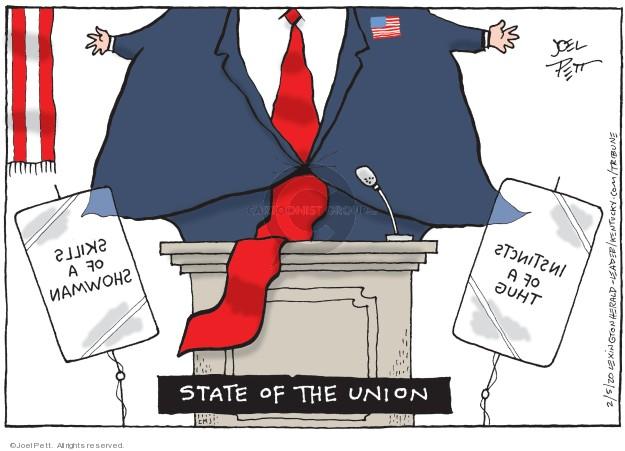 Cartoonist Joel Pett  Joel Pett's Editorial Cartoons 2020-02-05 state politician