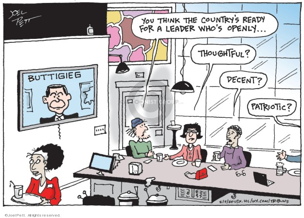 Cartoonist Joel Pett  Joel Pett's Editorial Cartoons 2020-02-07 candidate