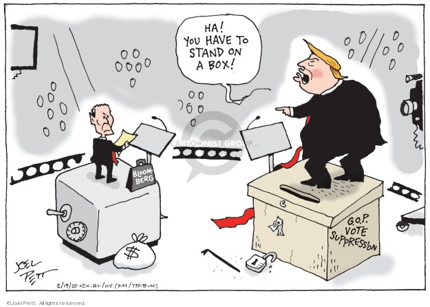 Cartoonist Joel Pett  Joel Pett's Editorial Cartoons 2020-02-19 2020 election