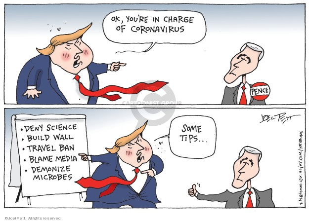 Joel Pett  Joel Pett's Editorial Cartoons 2020-02-28 presidential leadership