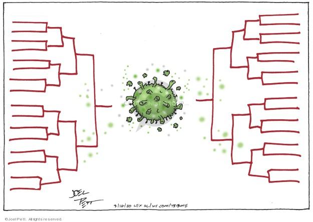 Cartoonist Joel Pett  Joel Pett's Editorial Cartoons 2020-03-15 coronavirus