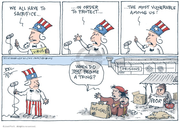 Cartoonist Joel Pett  Joel Pett's Editorial Cartoons 2020-03-01 immigration