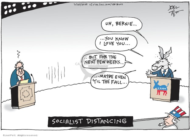 Cartoonist Joel Pett  Joel Pett's Editorial Cartoons 2020-03-20 2020 election
