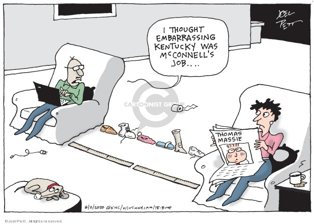 Cartoonist Joel Pett  Joel Pett's Editorial Cartoons 2020-04-02 illness