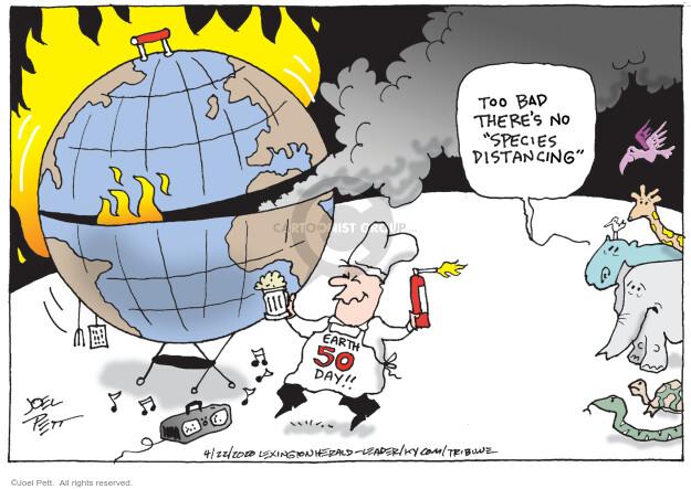 Cartoonist Joel Pett  Joel Pett's Editorial Cartoons 2020-04-22 editorial