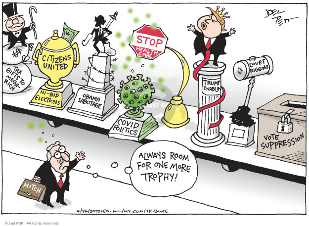 Cartoonist Joel Pett  Joel Pett's Editorial Cartoons 2020-04-26 judge