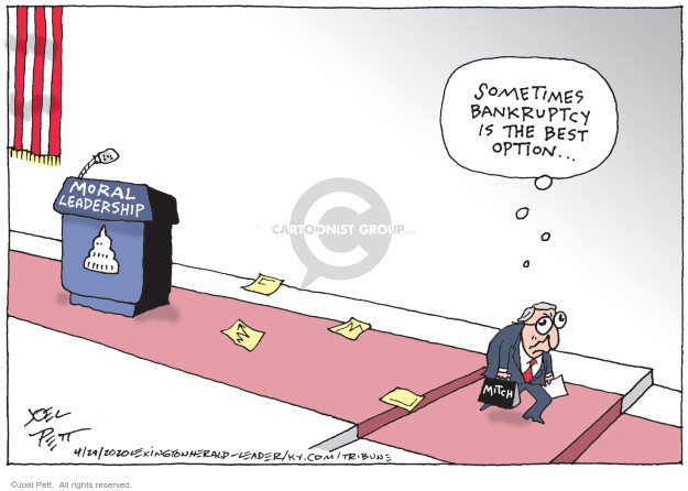 Joel Pett  Joel Pett's Editorial Cartoons 2020-04-29 republican politician