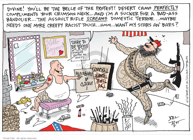 Cartoonist Joel Pett  Joel Pett's Editorial Cartoons 2020-05-13 terror