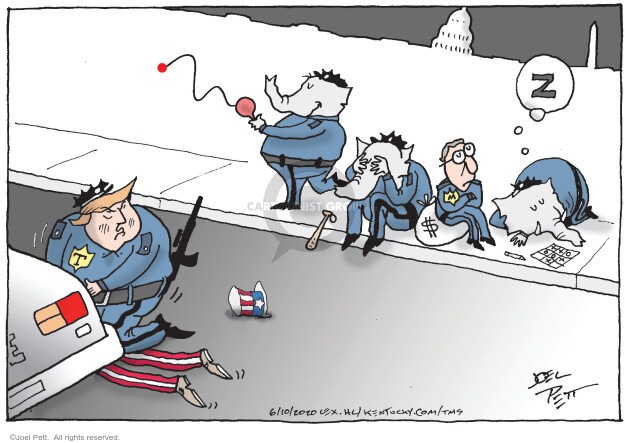 Cartoonist Joel Pett  Joel Pett's Editorial Cartoons 2020-06-10 president