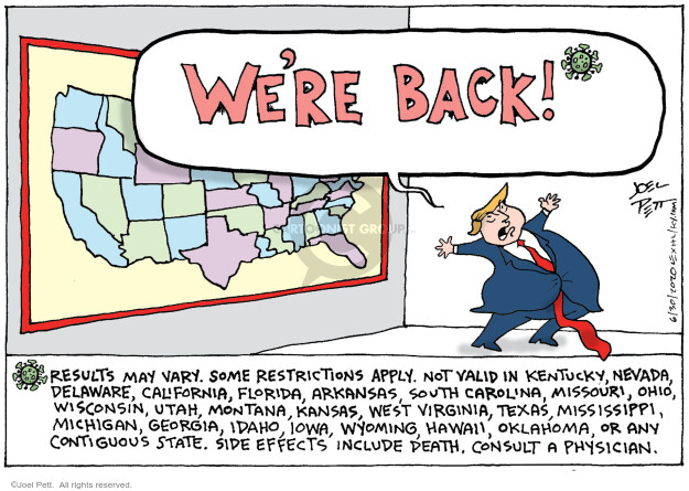 Cartoonist Joel Pett  Joel Pett's Editorial Cartoons 2020-06-30 president