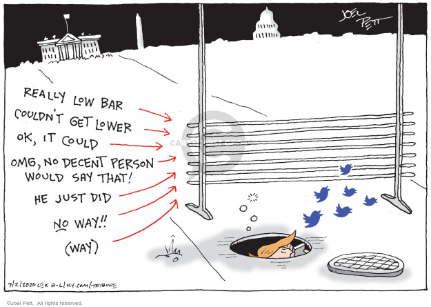 Cartoonist Joel Pett  Joel Pett's Editorial Cartoons 2020-07-02 Presidency