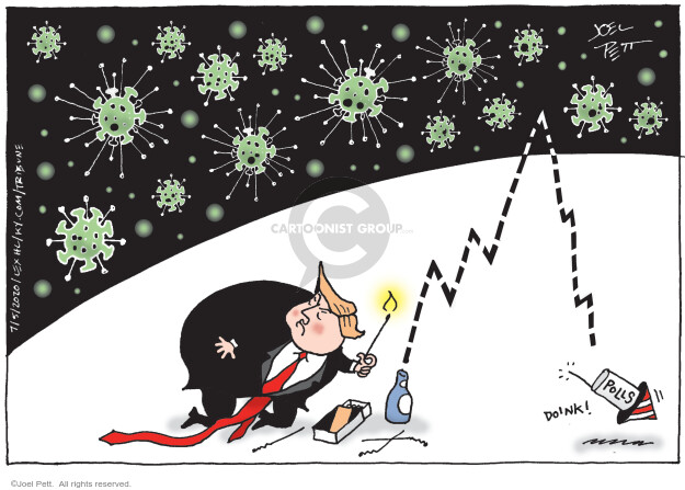 Cartoonist Joel Pett  Joel Pett's Editorial Cartoons 2020-07-05 president
