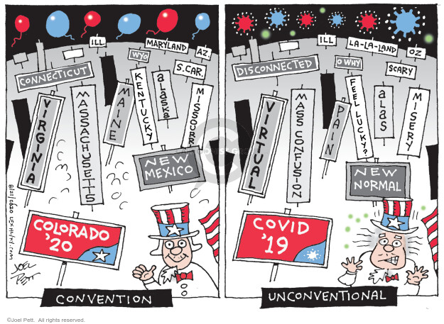 Joel Pett  Joel Pett's Editorial Cartoons 2020-08-21 presidential
