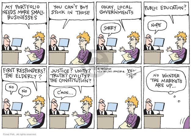 Joel Pett  Joel Pett's Editorial Cartoons 2020-08-30 business