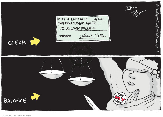 Joel Pett  Joel Pett's Editorial Cartoons 2020-09-17 dollar