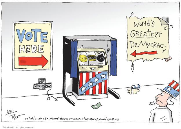 Joel Pett  Joel Pett's Editorial Cartoons 2020-10-15 presidential election