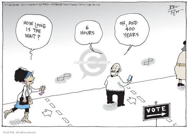 Joel Pett  Joel Pett's Editorial Cartoons 2020-10-16 American History