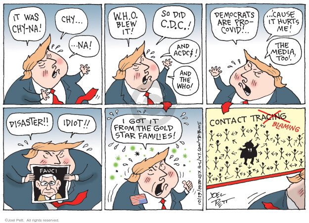 Joel Pett  Joel Pett's Editorial Cartoons 2020-10-29 presidential leadership